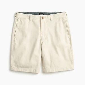 New J. Crew Seeded Cotton Shorts 9 inch inseam